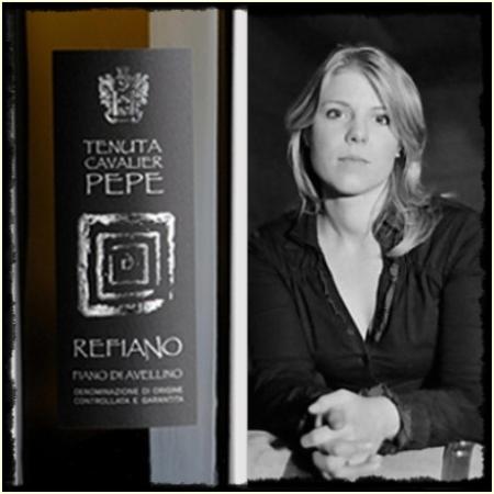 Milena Pepe con il suo Refiano 2011 - foto A. Di Costanzo