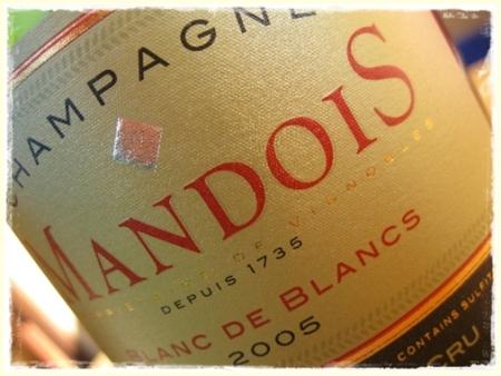 Champagne Blanc de Blancs 1er cru 2005 Mandois - foto A. Di Costanzo