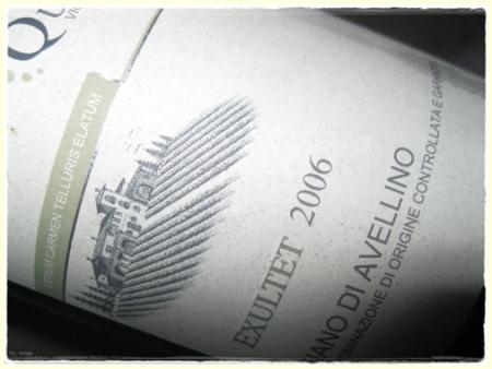Fiano di Avellino Exultet 2006 Quintodecimo - foto A. Di Costanzo