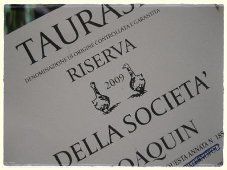 Taurasi Riserva della Società 2009 Jaoquin - foto A. Di Costanzo