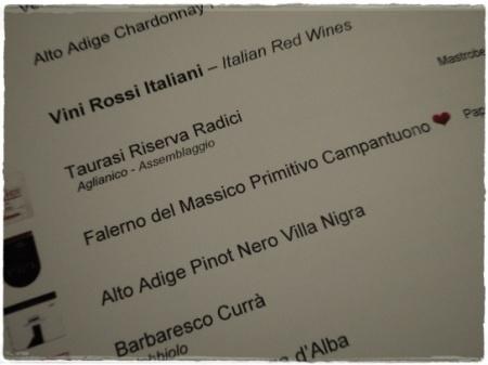 Carta dei Vini de L'Olivo del Capri Palace Hotel
