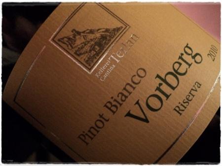 A. Adige Pinot Bianco Riserva Vorberg Terlan - foto A. Di Costanzo