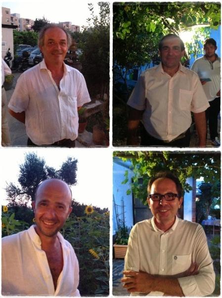 Luigi Di Meo, Raffaele Moccia, Gerardo Vernazzaro, Francesco Jr Martusciello - foto L'Arcante