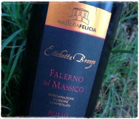 Falerno del Massico Rosso Etichetta Bronzo 2010 Masseria Felicia