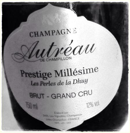 Champagne Grand Cru Prestige Millésimé Les Perles de la Dhuy 2002 Autréau de Champillon - foto L'Arcante