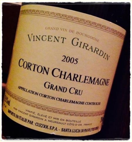Vincent Girardin Corton Charlemagne Grand Cru 2005 - foto L'Arcante