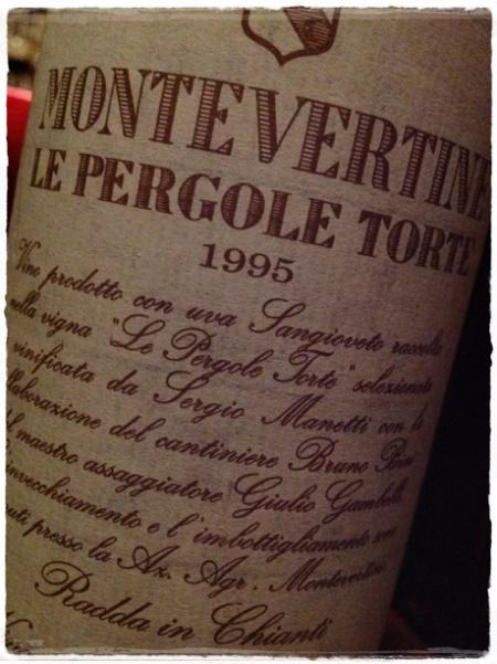 Toscana rosso Le Pergole Torte 1995 Montevertine - foto A. Di Costanzo