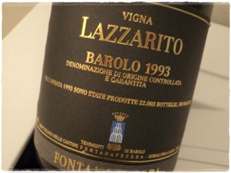 Barolo Lazzarito 1993 Fontanafredda - foto A. Di Costanzo