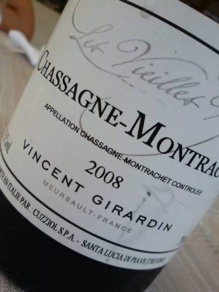 Chassagne-Montrachet 2008 Vincent Girardin - foto L'Arcante