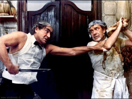I Nuovi Mostri, Hostaria con Vittorio Gassman e Ugo Tognazzi - foto tratta dal web