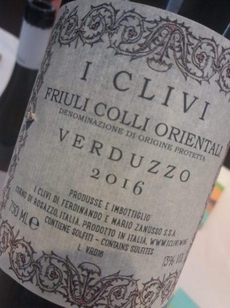 Friuli Colli Orientali Verduzzo 2016 I Clivi - foto A. Di Costanzo