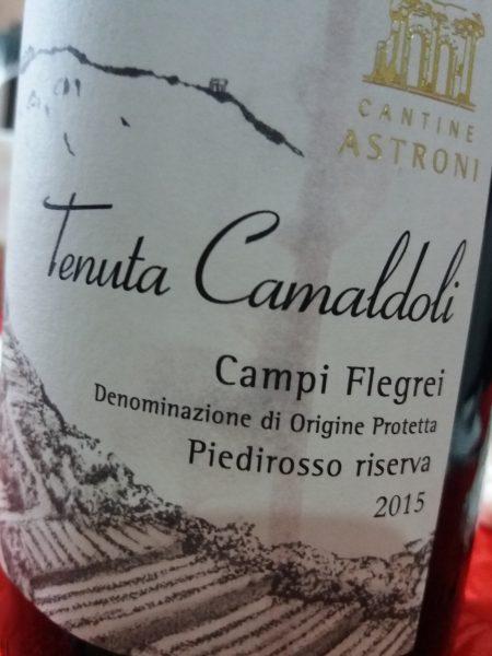 Campi Flegrei Piedirosso Riserva 2015 Tenuta Camaldoli Cantine Astroni - Foto L'Arcante