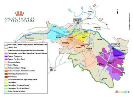 Carte Vignoble Anjou Saumur - foto tratta dal web